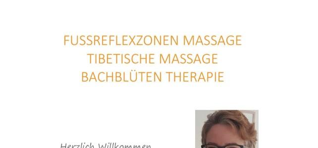 Neu: Fussreflexzonen & Tibetische Massage und Bachblüten Therapie